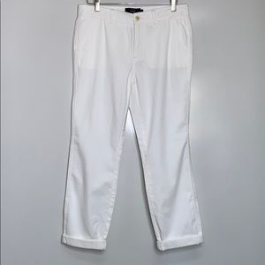 J.CREW • White Ankle Cotton Chino Pants